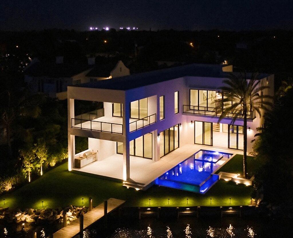 Delray Beach-Landscape Lighting-Illumination FL-Drone