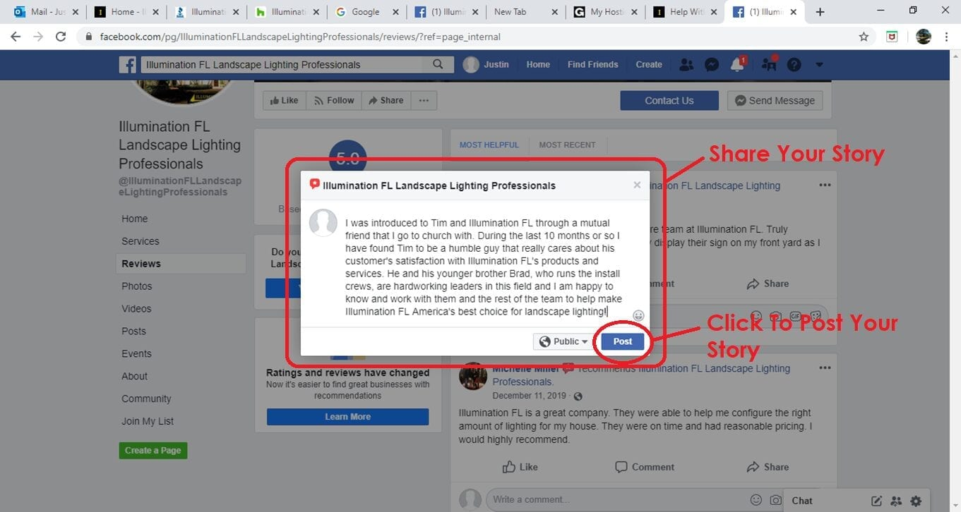 Facebook - Reviews - Landscape Lighting - Illumination FL