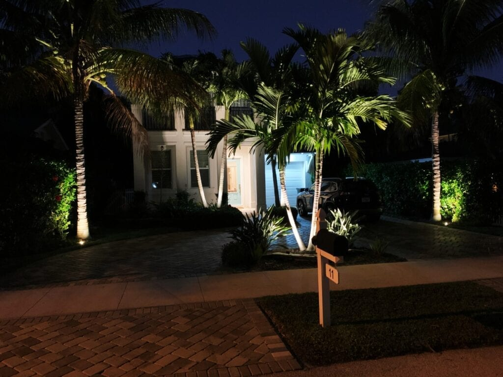 Illumination FL Landscape Lighting Entrance