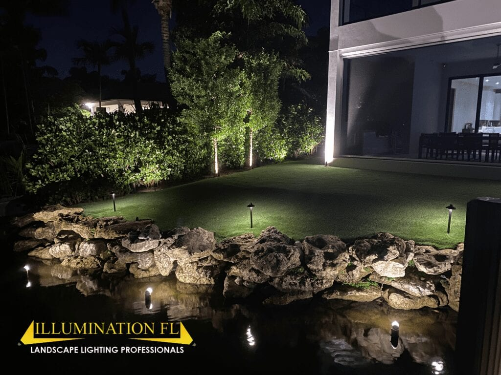 Illumination FL - Landscape Lighting - Natural Sea-wall - underwater - submersible lighting